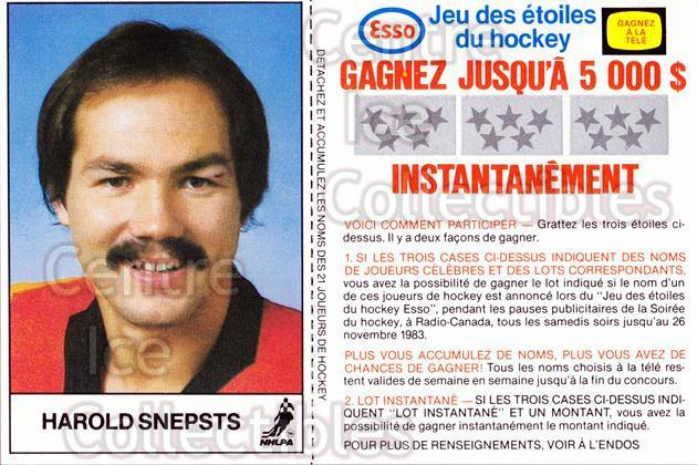 1983-84 Esso French #18 Harold Snepsts<br/>2 In Stock - $3.00 each - <a href=https://centericecollectibles.foxycart.com/cart?name=1983-84%20Esso%20French%20%2318%20Harold%20Snepsts...&quantity_max=2&price=$3.00&code=27459 class=foxycart> Buy it now! </a>