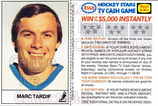 1983-84 Esso French #19 Marc Tardif<br/>3 In Stock - $3.00 each - <a href=https://centericecollectibles.foxycart.com/cart?name=1983-84%20Esso%20French%20%2319%20Marc%20Tardif...&quantity_max=3&price=$3.00&code=27460 class=foxycart> Buy it now! </a>