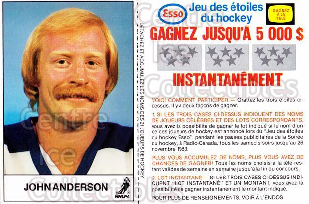 1983-84 Esso French #2 John Anderson<br/>4 In Stock - $3.00 each - <a href=https://centericecollectibles.foxycart.com/cart?name=1983-84%20Esso%20French%20%232%20John%20Anderson...&quantity_max=4&price=$3.00&code=27461 class=foxycart> Buy it now! </a>