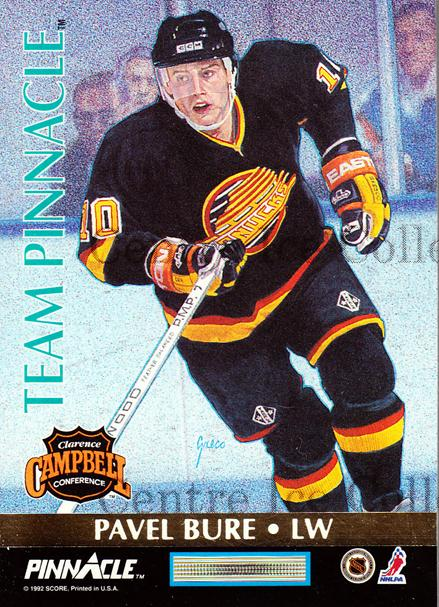 1992-93 Pinnacle Team Pinnacle #4 Kevin Stevens, Pavel Bure<br/>4 In Stock - $3.00 each - <a href=https://centericecollectibles.foxycart.com/cart?name=1992-93%20Pinnacle%20Team%20Pinnacle%20%234%20Kevin%20Stevens,%20...&quantity_max=4&price=$3.00&code=274625 class=foxycart> Buy it now! </a>