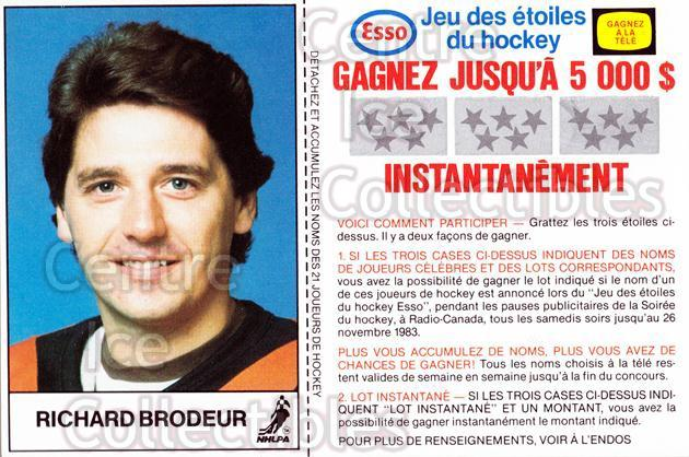 1983-84 Esso French #4 Richard Brodeur<br/>3 In Stock - $3.00 each - <a href=https://centericecollectibles.foxycart.com/cart?name=1983-84%20Esso%20French%20%234%20Richard%20Brodeur...&quantity_max=3&price=$3.00&code=27465 class=foxycart> Buy it now! </a>
