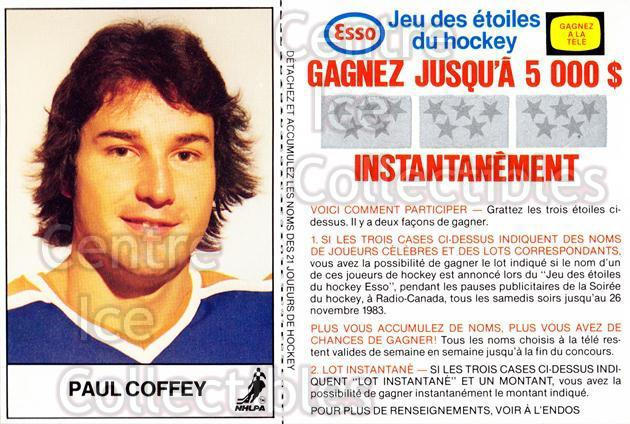 1983-84 Esso French #5 Paul Coffey<br/>1 In Stock - $3.00 each - <a href=https://centericecollectibles.foxycart.com/cart?name=1983-84%20Esso%20French%20%235%20Paul%20Coffey...&quantity_max=1&price=$3.00&code=27466 class=foxycart> Buy it now! </a>