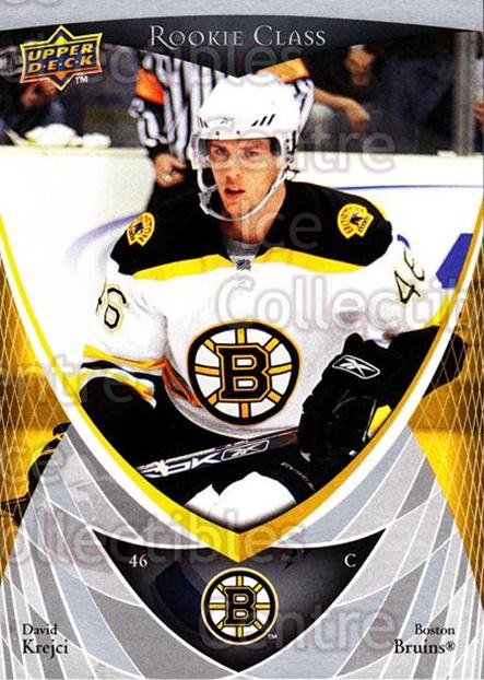 2007-08 Upper Deck Rookie Class #23 David Krejci<br/>8 In Stock - $2.00 each - <a href=https://centericecollectibles.foxycart.com/cart?name=2007-08%20Upper%20Deck%20Rookie%20Class%20%2323%20David%20Krejci...&quantity_max=8&price=$2.00&code=274825 class=foxycart> Buy it now! </a>