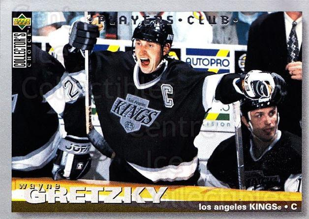 1995-96 Collectors Choice Players Club #1 Wayne Gretzky<br/>1 In Stock - $10.00 each - <a href=https://centericecollectibles.foxycart.com/cart?name=1995-96%20Collectors%20Choice%20Players%20Club%20%231%20Wayne%20Gretzky...&quantity_max=1&price=$10.00&code=274853 class=foxycart> Buy it now! </a>