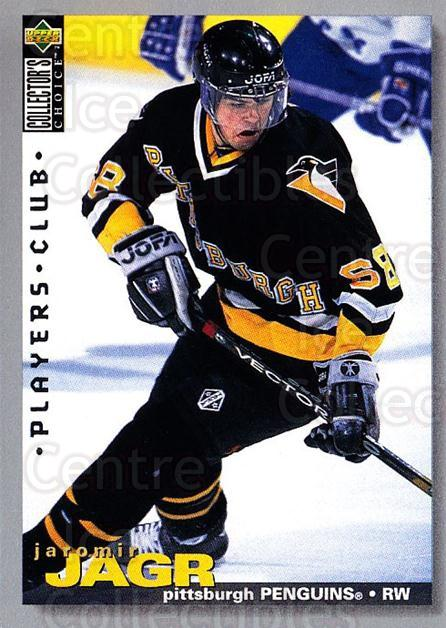 1995-96 Collectors Choice Players Club #127 Jaromir Jagr<br/>2 In Stock - $2.00 each - <a href=https://centericecollectibles.foxycart.com/cart?name=1995-96%20Collectors%20Choice%20Players%20Club%20%23127%20Jaromir%20Jagr...&quantity_max=2&price=$2.00&code=274859 class=foxycart> Buy it now! </a>