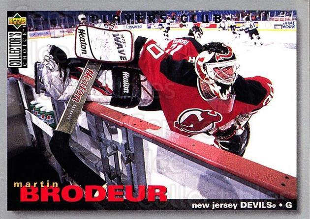 1995-96 Collectors Choice Players Club #204 Martin Brodeur<br/>2 In Stock - $2.00 each - <a href=https://centericecollectibles.foxycart.com/cart?name=1995-96%20Collectors%20Choice%20Players%20Club%20%23204%20Martin%20Brodeur...&price=$2.00&code=274863 class=foxycart> Buy it now! </a>