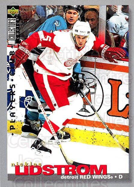 1995-96 Collectors Choice Players Club #228 Nicklas Lidstrom<br/>3 In Stock - $2.00 each - <a href=https://centericecollectibles.foxycart.com/cart?name=1995-96%20Collectors%20Choice%20Players%20Club%20%23228%20Nicklas%20Lidstro...&quantity_max=3&price=$2.00&code=274865 class=foxycart> Buy it now! </a>