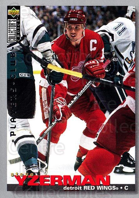 1995-96 Collectors Choice Players Club #266 Steve Yzerman<br/>2 In Stock - $5.00 each - <a href=https://centericecollectibles.foxycart.com/cart?name=1995-96%20Collectors%20Choice%20Players%20Club%20%23266%20Steve%20Yzerman...&quantity_max=2&price=$5.00&code=274869 class=foxycart> Buy it now! </a>