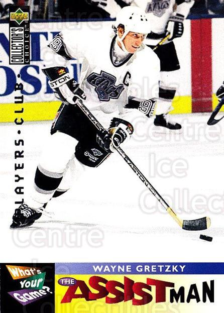 1995-96 Collectors Choice Players Club #361 Wayne Gretzky<br/>1 In Stock - $10.00 each - <a href=https://centericecollectibles.foxycart.com/cart?name=1995-96%20Collectors%20Choice%20Players%20Club%20%23361%20Wayne%20Gretzky...&quantity_max=1&price=$10.00&code=274877 class=foxycart> Buy it now! </a>