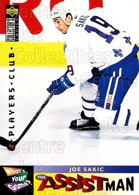 1995-96 Collectors Choice Players Club #362 Joe Sakic<br/>1 In Stock - $3.00 each - <a href=https://centericecollectibles.foxycart.com/cart?name=1995-96%20Collectors%20Choice%20Players%20Club%20%23362%20Joe%20Sakic...&quantity_max=1&price=$3.00&code=274878 class=foxycart> Buy it now! </a>