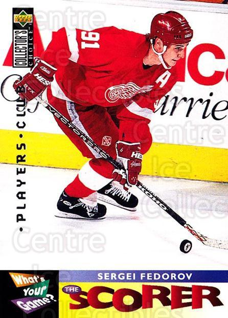 1995-96 Collectors Choice Players Club #365 Sergei Fedorov<br/>2 In Stock - $3.00 each - <a href=https://centericecollectibles.foxycart.com/cart?name=1995-96%20Collectors%20Choice%20Players%20Club%20%23365%20Sergei%20Fedorov...&quantity_max=2&price=$3.00&code=274880 class=foxycart> Buy it now! </a>