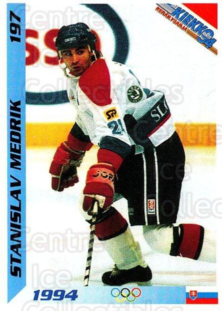 1994 Finnish Jaa Kiekko #197 Stanislav Medrik<br/>4 In Stock - $2.00 each - <a href=https://centericecollectibles.foxycart.com/cart?name=1994%20Finnish%20Jaa%20Kiekko%20%23197%20Stanislav%20Medri...&quantity_max=4&price=$2.00&code=2748 class=foxycart> Buy it now! </a>