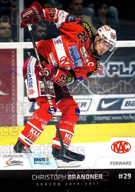 2010-11 Erste Bank Eishockey Liga EBEL #54 Christoph Brandner<br/>4 In Stock - $2.00 each - <a href=https://centericecollectibles.foxycart.com/cart?name=2010-11%20Erste%20Bank%20Eishockey%20Liga%20EBEL%20%2354%20Christoph%20Brand...&quantity_max=4&price=$2.00&code=275093 class=foxycart> Buy it now! </a>