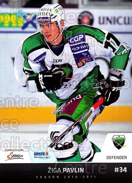 2010-11 Erste Bank Eishockey Liga EBEL #88 Ziga Pavlin<br/>3 In Stock - $2.00 each - <a href=https://centericecollectibles.foxycart.com/cart?name=2010-11%20Erste%20Bank%20Eishockey%20Liga%20EBEL%20%2388%20Ziga%20Pavlin...&quantity_max=3&price=$2.00&code=275127 class=foxycart> Buy it now! </a>
