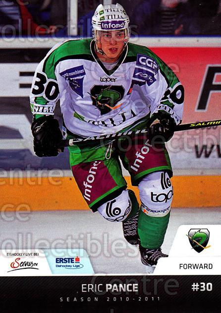 2010-11 Erste Bank Eishockey Liga EBEL #94 Eric Pance<br/>6 In Stock - $2.00 each - <a href=https://centericecollectibles.foxycart.com/cart?name=2010-11%20Erste%20Bank%20Eishockey%20Liga%20EBEL%20%2394%20Eric%20Pance...&quantity_max=6&price=$2.00&code=275133 class=foxycart> Buy it now! </a>