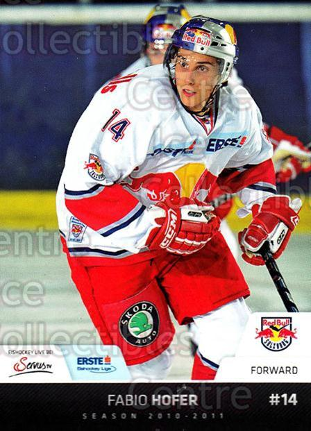 2010-11 Erste Bank Eishockey Liga EBEL #103 Fabio Hofer<br/>3 In Stock - $2.00 each - <a href=https://centericecollectibles.foxycart.com/cart?name=2010-11%20Erste%20Bank%20Eishockey%20Liga%20EBEL%20%23103%20Fabio%20Hofer...&quantity_max=3&price=$2.00&code=275142 class=foxycart> Buy it now! </a>