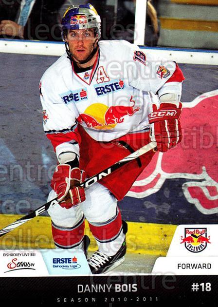2010-11 Erste Bank Eishockey Liga EBEL #107 Danny Bois<br/>1 In Stock - $2.00 each - <a href=https://centericecollectibles.foxycart.com/cart?name=2010-11%20Erste%20Bank%20Eishockey%20Liga%20EBEL%20%23107%20Danny%20Bois...&quantity_max=1&price=$2.00&code=275146 class=foxycart> Buy it now! </a>