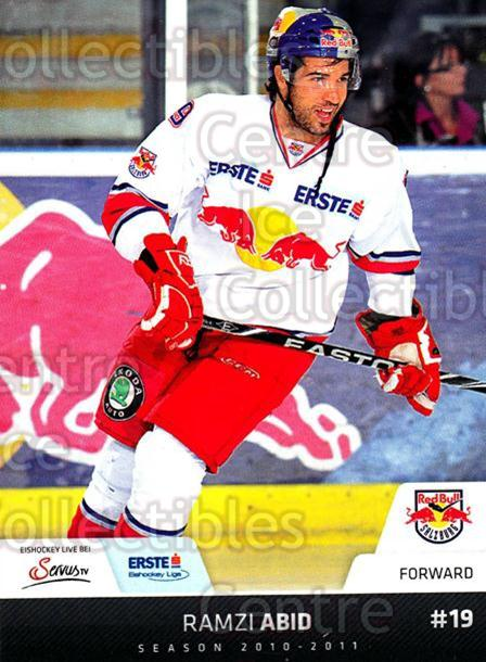 2010-11 Erste Bank Eishockey Liga EBEL #108 Ramzi Abid<br/>1 In Stock - $2.00 each - <a href=https://centericecollectibles.foxycart.com/cart?name=2010-11%20Erste%20Bank%20Eishockey%20Liga%20EBEL%20%23108%20Ramzi%20Abid...&quantity_max=1&price=$2.00&code=275147 class=foxycart> Buy it now! </a>