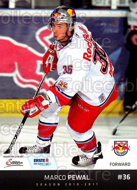 2010-11 Erste Bank Eishockey Liga EBEL #112 Marco Pewal<br/>5 In Stock - $2.00 each - <a href=https://centericecollectibles.foxycart.com/cart?name=2010-11%20Erste%20Bank%20Eishockey%20Liga%20EBEL%20%23112%20Marco%20Pewal...&quantity_max=5&price=$2.00&code=275151 class=foxycart> Buy it now! </a>