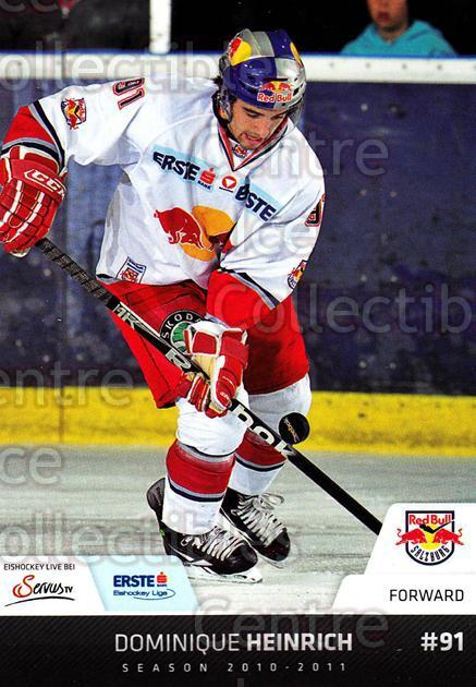 2010-11 Erste Bank Eishockey Liga EBEL #119 Dominique Heinrich<br/>3 In Stock - $2.00 each - <a href=https://centericecollectibles.foxycart.com/cart?name=2010-11%20Erste%20Bank%20Eishockey%20Liga%20EBEL%20%23119%20Dominique%20Heinr...&quantity_max=3&price=$2.00&code=275158 class=foxycart> Buy it now! </a>