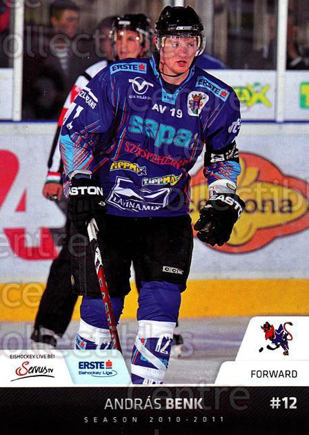 2010-11 Erste Bank Eishockey Liga EBEL #127 Andras Benk<br/>5 In Stock - $2.00 each - <a href=https://centericecollectibles.foxycart.com/cart?name=2010-11%20Erste%20Bank%20Eishockey%20Liga%20EBEL%20%23127%20Andras%20Benk...&quantity_max=5&price=$2.00&code=275166 class=foxycart> Buy it now! </a>