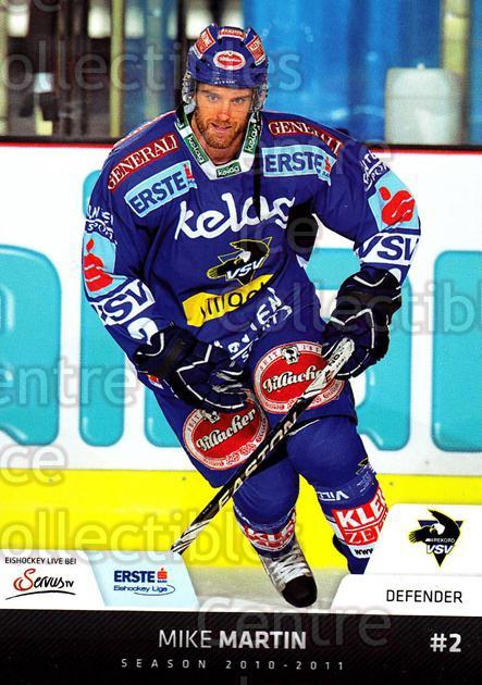 2010-11 Erste Bank Eishockey Liga EBEL #143 Mike Martin<br/>4 In Stock - $2.00 each - <a href=https://centericecollectibles.foxycart.com/cart?name=2010-11%20Erste%20Bank%20Eishockey%20Liga%20EBEL%20%23143%20Mike%20Martin...&quantity_max=4&price=$2.00&code=275182 class=foxycart> Buy it now! </a>