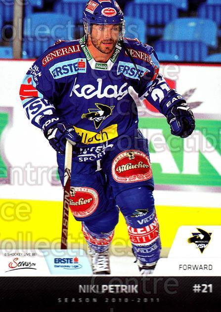 2010-11 Erste Bank Eishockey Liga EBEL #153 Niki Petrik<br/>4 In Stock - $2.00 each - <a href=https://centericecollectibles.foxycart.com/cart?name=2010-11%20Erste%20Bank%20Eishockey%20Liga%20EBEL%20%23153%20Niki%20Petrik...&quantity_max=4&price=$2.00&code=275192 class=foxycart> Buy it now! </a>