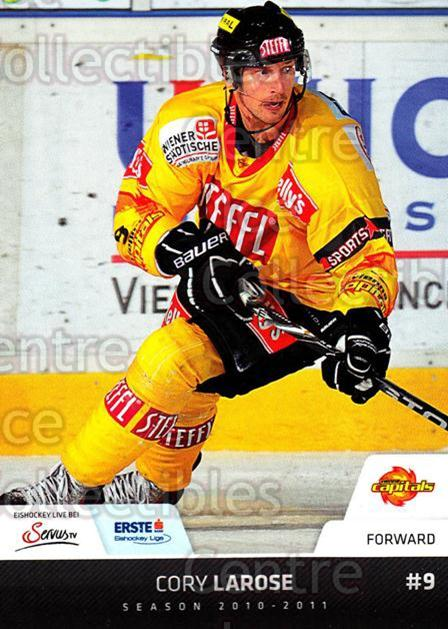 2010-11 Erste Bank Eishockey Liga EBEL #167 Cory Larose<br/>4 In Stock - $2.00 each - <a href=https://centericecollectibles.foxycart.com/cart?name=2010-11%20Erste%20Bank%20Eishockey%20Liga%20EBEL%20%23167%20Cory%20Larose...&quantity_max=4&price=$2.00&code=275206 class=foxycart> Buy it now! </a>