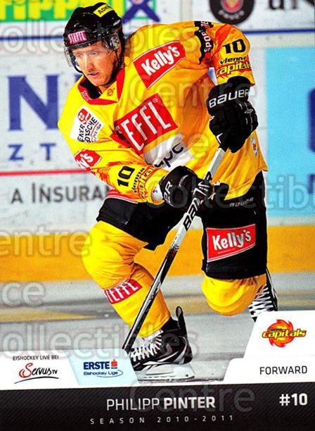 2010-11 Erste Bank Eishockey Liga EBEL #168 Philipp Pintner<br/>6 In Stock - $2.00 each - <a href=https://centericecollectibles.foxycart.com/cart?name=2010-11%20Erste%20Bank%20Eishockey%20Liga%20EBEL%20%23168%20Philipp%20Pintner...&quantity_max=6&price=$2.00&code=275207 class=foxycart> Buy it now! </a>