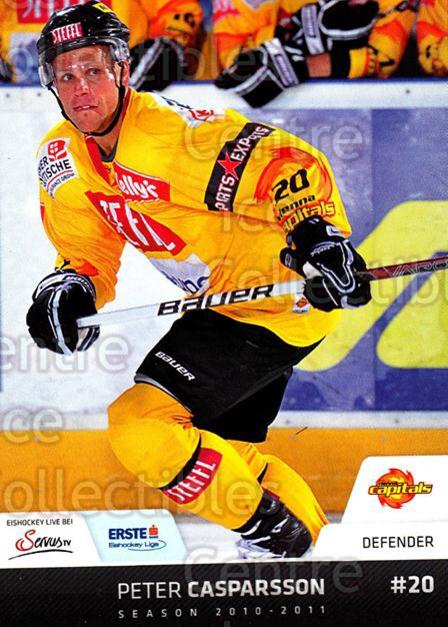 2010-11 Erste Bank Eishockey Liga EBEL #173 Peter Casparsson<br/>1 In Stock - $2.00 each - <a href=https://centericecollectibles.foxycart.com/cart?name=2010-11%20Erste%20Bank%20Eishockey%20Liga%20EBEL%20%23173%20Peter%20Casparsso...&quantity_max=1&price=$2.00&code=275212 class=foxycart> Buy it now! </a>