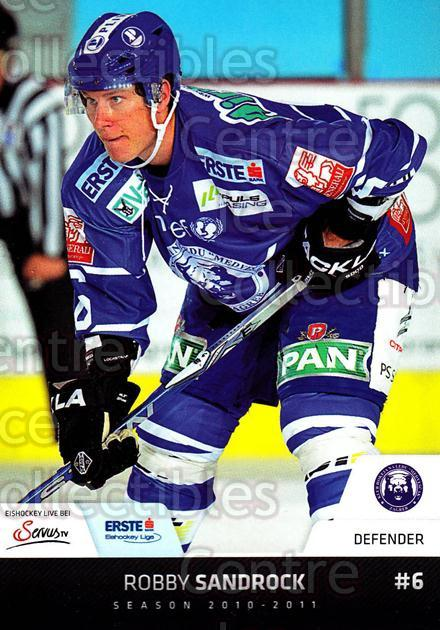 2010-11 Erste Bank Eishockey Liga EBEL #184 Robby Sandrock<br/>2 In Stock - $2.00 each - <a href=https://centericecollectibles.foxycart.com/cart?name=2010-11%20Erste%20Bank%20Eishockey%20Liga%20EBEL%20%23184%20Robby%20Sandrock...&quantity_max=2&price=$2.00&code=275223 class=foxycart> Buy it now! </a>
