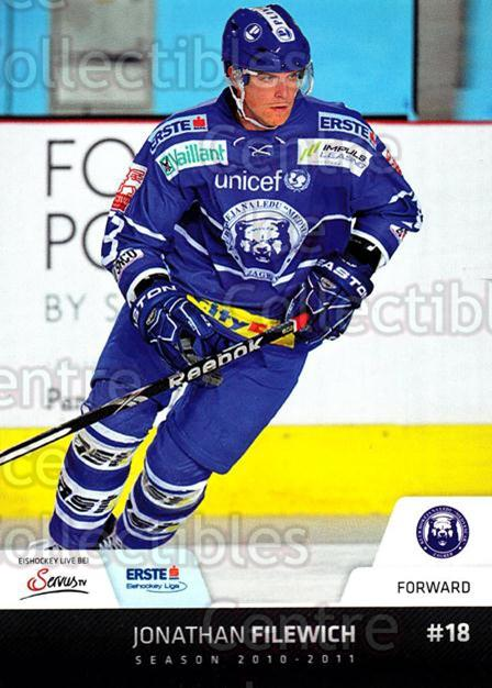 2010-11 Erste Bank Eishockey Liga EBEL #187 Jonathan Filewich<br/>2 In Stock - $2.00 each - <a href=https://centericecollectibles.foxycart.com/cart?name=2010-11%20Erste%20Bank%20Eishockey%20Liga%20EBEL%20%23187%20Jonathan%20Filewi...&quantity_max=2&price=$2.00&code=275226 class=foxycart> Buy it now! </a>