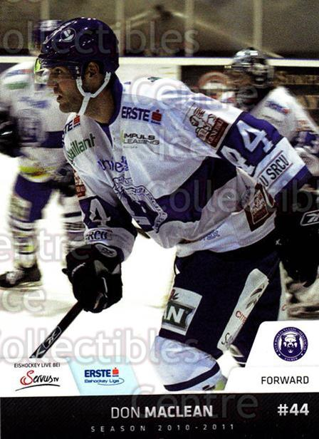 2010-11 Erste Bank Eishockey Liga EBEL #197 Don MacLean<br/>1 In Stock - $2.00 each - <a href=https://centericecollectibles.foxycart.com/cart?name=2010-11%20Erste%20Bank%20Eishockey%20Liga%20EBEL%20%23197%20Don%20MacLean...&quantity_max=1&price=$2.00&code=275236 class=foxycart> Buy it now! </a>