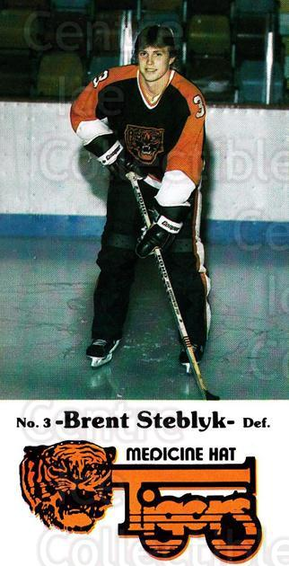1983-84 Medicine Hat Tigers #12 Brent Steblyk<br/>3 In Stock - $3.00 each - <a href=https://centericecollectibles.foxycart.com/cart?name=1983-84%20Medicine%20Hat%20Tigers%20%2312%20Brent%20Steblyk...&quantity_max=3&price=$3.00&code=27547 class=foxycart> Buy it now! </a>