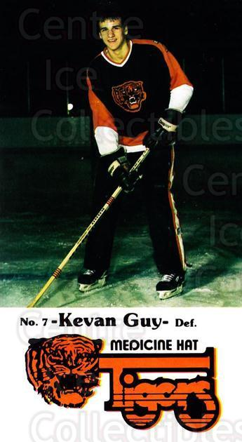 1983-84 Medicine Hat Tigers #14 Kevan Guy<br/>2 In Stock - $3.00 each - <a href=https://centericecollectibles.foxycart.com/cart?name=1983-84%20Medicine%20Hat%20Tigers%20%2314%20Kevan%20Guy...&quantity_max=2&price=$3.00&code=27549 class=foxycart> Buy it now! </a>