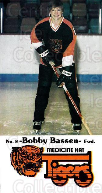 1983-84 Medicine Hat Tigers #15 Bob Bassen<br/>1 In Stock - $3.00 each - <a href=https://centericecollectibles.foxycart.com/cart?name=1983-84%20Medicine%20Hat%20Tigers%20%2315%20Bob%20Bassen...&quantity_max=1&price=$3.00&code=27550 class=foxycart> Buy it now! </a>