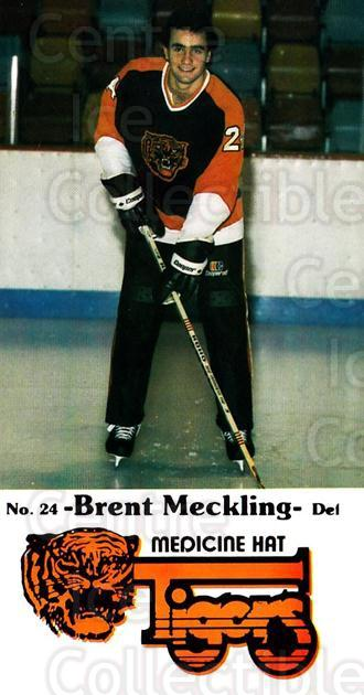 1983-84 Medicine Hat Tigers #16 Brent Meckling<br/>3 In Stock - $3.00 each - <a href=https://centericecollectibles.foxycart.com/cart?name=1983-84%20Medicine%20Hat%20Tigers%20%2316%20Brent%20Meckling...&quantity_max=3&price=$3.00&code=27551 class=foxycart> Buy it now! </a>