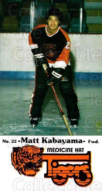 1983-84 Medicine Hat Tigers #17 Matt Kabayama<br/>1 In Stock - $3.00 each - <a href=https://centericecollectibles.foxycart.com/cart?name=1983-84%20Medicine%20Hat%20Tigers%20%2317%20Matt%20Kabayama...&quantity_max=1&price=$3.00&code=27552 class=foxycart> Buy it now! </a>