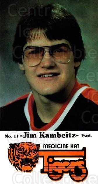1983-84 Medicine Hat Tigers #20 Jim Kambeitz<br/>1 In Stock - $3.00 each - <a href=https://centericecollectibles.foxycart.com/cart?name=1983-84%20Medicine%20Hat%20Tigers%20%2320%20Jim%20Kambeitz...&quantity_max=1&price=$3.00&code=27556 class=foxycart> Buy it now! </a>