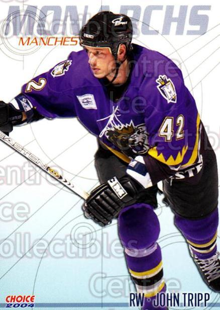 2003-04 Manchester Monarchs Choice #18 John Tripp<br/>3 In Stock - $3.00 each - <a href=https://centericecollectibles.foxycart.com/cart?name=2003-04%20Manchester%20Monarchs%20Choice%20%2318%20John%20Tripp...&quantity_max=3&price=$3.00&code=275833 class=foxycart> Buy it now! </a>