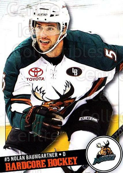 2008-09 Manitoba Moose #3 Nolan Baumgartner<br/>6 In Stock - $3.00 each - <a href=https://centericecollectibles.foxycart.com/cart?name=2008-09%20Manitoba%20Moose%20%233%20Nolan%20Baumgartn...&quantity_max=6&price=$3.00&code=275957 class=foxycart> Buy it now! </a>