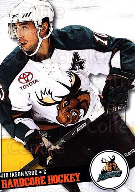 2008-09 Manitoba Moose #7 Jason Krog<br/>4 In Stock - $3.00 each - <a href=https://centericecollectibles.foxycart.com/cart?name=2008-09%20Manitoba%20Moose%20%237%20Jason%20Krog...&quantity_max=4&price=$3.00&code=275961 class=foxycart> Buy it now! </a>