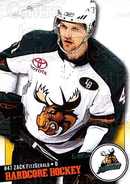 2008-09 Manitoba Moose #24 Zach FitzGerald<br/>3 In Stock - $3.00 each - <a href=https://centericecollectibles.foxycart.com/cart?name=2008-09%20Manitoba%20Moose%20%2324%20Zach%20FitzGerald...&quantity_max=3&price=$3.00&code=275978 class=foxycart> Buy it now! </a>