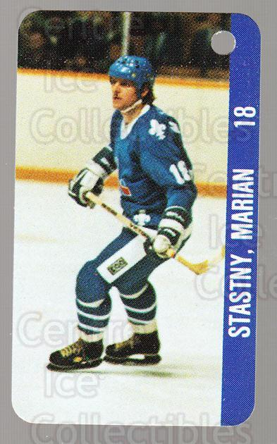 1983-84 NHL Key Tags #108 Michel Goulet, Marian Stastny<br/>11 In Stock - $2.00 each - <a href=https://centericecollectibles.foxycart.com/cart?name=1983-84%20NHL%20Key%20Tags%20%23108%20Michel%20Goulet,%20...&quantity_max=11&price=$2.00&code=27601 class=foxycart> Buy it now! </a>