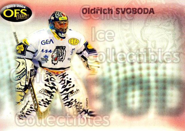 2003-04 Czech OFS Checklists #6 Oldrich Svoboda<br/>2 In Stock - $2.00 each - <a href=https://centericecollectibles.foxycart.com/cart?name=2003-04%20Czech%20OFS%20Checklists%20%236%20Oldrich%20Svoboda...&quantity_max=2&price=$2.00&code=276176 class=foxycart> Buy it now! </a>