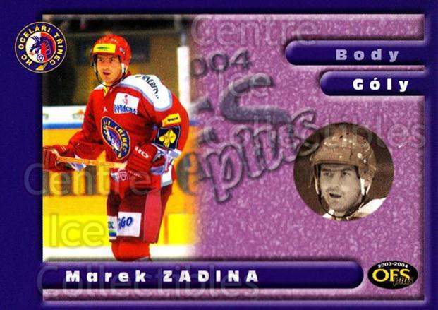 2003-04 Czech OFS Goals Leaders #4 Marek Zadina<br/>2 In Stock - $2.00 each - <a href=https://centericecollectibles.foxycart.com/cart?name=2003-04%20Czech%20OFS%20Goals%20Leaders%20%234%20Marek%20Zadina...&quantity_max=2&price=$2.00&code=276178 class=foxycart> Buy it now! </a>