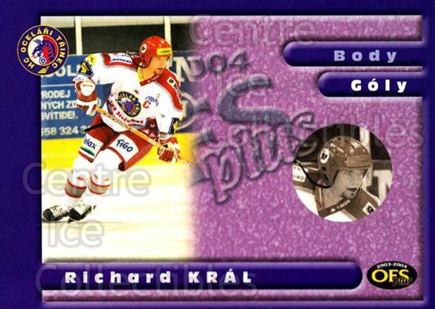 2003-04 Czech OFS Goals Leaders #8 Richard Kral<br/>2 In Stock - $2.00 each - <a href=https://centericecollectibles.foxycart.com/cart?name=2003-04%20Czech%20OFS%20Goals%20Leaders%20%238%20Richard%20Kral...&quantity_max=2&price=$2.00&code=276179 class=foxycart> Buy it now! </a>
