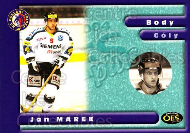 2003-04 Czech OFS Points Leaders #2 Jan Marek<br/>2 In Stock - $2.00 each - <a href=https://centericecollectibles.foxycart.com/cart?name=2003-04%20Czech%20OFS%20Points%20Leaders%20%232%20Jan%20Marek...&quantity_max=2&price=$2.00&code=276186 class=foxycart> Buy it now! </a>