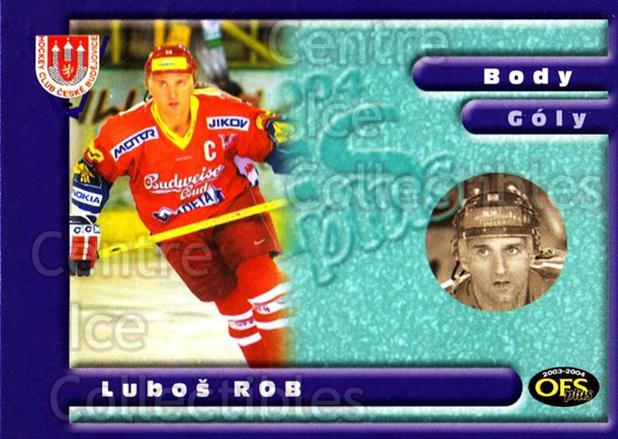 2003-04 Czech OFS Points Leaders #6 Lubos Rob<br/>1 In Stock - $2.00 each - <a href=https://centericecollectibles.foxycart.com/cart?name=2003-04%20Czech%20OFS%20Points%20Leaders%20%236%20Lubos%20Rob...&quantity_max=1&price=$2.00&code=276188 class=foxycart> Buy it now! </a>