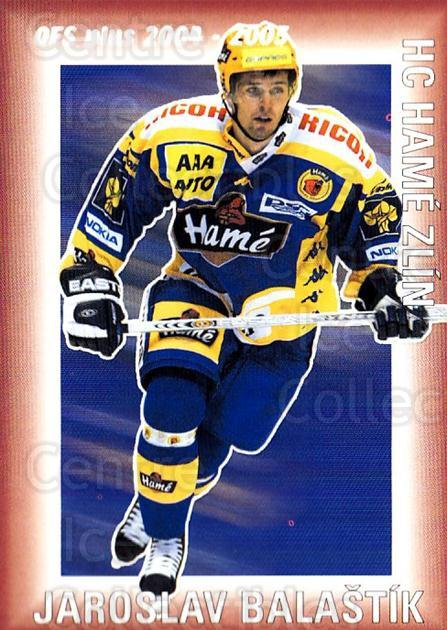 2004-05 Czech OFS Points Leaders #9 Jaroslav Balastik<br/>3 In Stock - $2.00 each - <a href=https://centericecollectibles.foxycart.com/cart?name=2004-05%20Czech%20OFS%20Points%20Leaders%20%239%20Jaroslav%20Balast...&quantity_max=3&price=$2.00&code=276231 class=foxycart> Buy it now! </a>